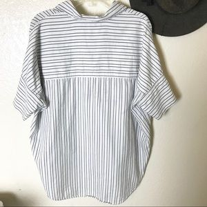 Madewell Tops - Madewell Courier Black White Striped Shirt